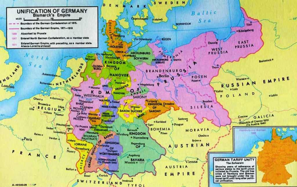 germany map before and after unification